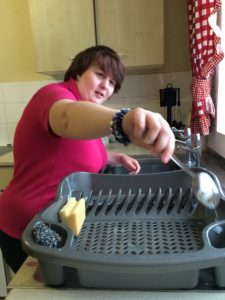 Tilly washing up